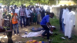 This was the scene after militants shot and killed students while they were sleeping at the College of Agriculture in the Yobe state of Nigeria. – image - news.ninemsn.com.au