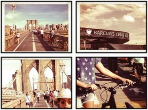 Beyoncé posted this picture on Instagram to share her bicycle ride to Barclays Center with her fans. – image – instagram.com