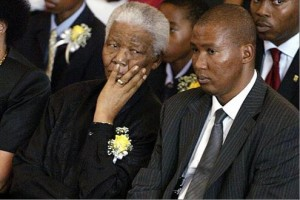Former President Nelson Mandela and grandson, Mandla are seen here sitting side by side. – image source - www.thetimes.co.uk