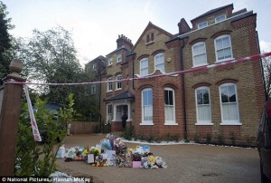 Crime Scene: The home of the Clarences where three children were killed. Photo: Daily Mail