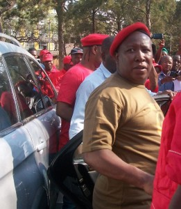 The DA has condemned statements by the Commander in Chief of the EFF Julius Malema. Speaking at a rally in Rustenburg, Malema said that the ANC was worse than the apartheid government. – image – Ntokozo Sindane