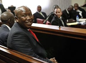 Julius Malema took time away from his new political party to face fraud and corruption charges. – image - www.sowetanlive.co.za