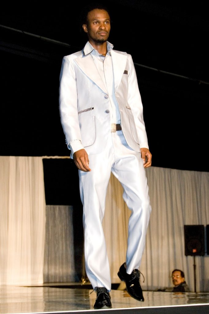 Khulekani doing his thing on stage. Here he was competing for the Mr KZN Top Model 2012 title, which he won.