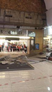 Sandton City collapse Pic: Twitter: @LeloMzaca