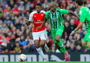 Arsenal's impressive youngster Jeff Reine-Adelaide set-up his sides goal in their 1-0 victory over VfL Wolfsburg.                      Picture Credit : 101 Great Goals