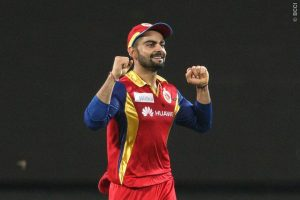 Royal Challengers Bangalore captain Virat Kohli celebrates his side's win over the Rajasthan Royals.                             Picture Credit : Shaun Roy/ SPORTZPICS/IPL
