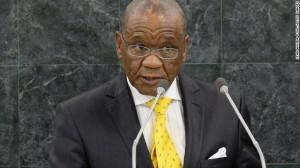 """Lesotho Prime Minister Thomas Thabane: """"I won't go to Lesotho to get killed."""" Image: Mewsrescue.com"""