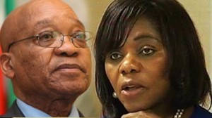 Thuli Madonsela and Jacob Zuma - Battle lines Drawn? Photo: SABC