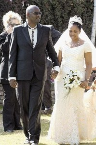 Zwelinzima Vavi and his wife Noluthando Mathebe on their wedding day. – image - www.sowetanlive.co.za