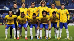 The Brazillian Soccer Team. Photo: Worldcup2014places.com