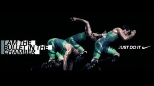 This is the Nike print advertisement that was withdrawn for being inappropriate in light of the murder charges against Oscar Pistorius following the shooting of Reeva Steenkamp on Valentine's Day. – image – www.mg.co.za