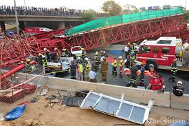 The pedestrian bridge which collapsed was still under construction Image:citizen