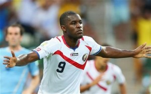Joel Campbell scored the second and assisted in the third goal to help a 3-1 Costa Rica win.  Photo: The Telegraph