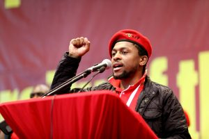 EFF spokesman said Die Stem is a song for racists, oppressors and murderers Image:drum