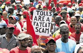 More e-toll protests are expected after President Jacob Zuma signs the system into law. – image - www.timeslive.co.za