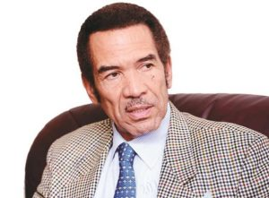 Ian Khama, the President of Botswana. His Botswana Democratic Party is leading the way in the election results just coming in. Image: The Herald.