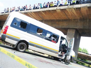 The Minibus Taxi That Was Involved in a Shootout With The Police Image: The New Age.