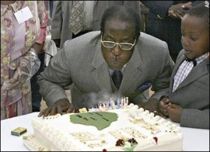 A file photo of Mugabe during one of his birthdays. The opposition is opposed to his birthday bash. Image: The Telegraph UK