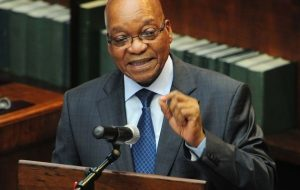 Zuma, in parliament as he insisted that he did not take a 'penny' of the state coffers. Image: TimesLive