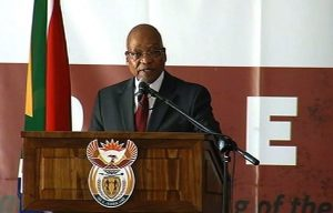 President Zuma addresses the Freedom Day celebrations at the Union Buildings in Pretoria.  Image: ENCA