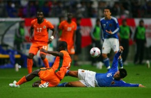 Ivory Coast made a comeback to win 2-1.  Photo:  World Cup Football Bets.