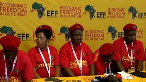 EFF has announced its parliamentary leadership. Photo: SABC.
