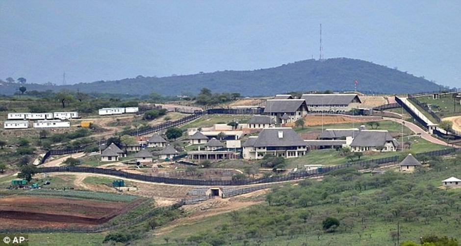 The home of President Jacob Zuma in Nkandla looks perfect for a postcard. The cost of the renovations to the presidential residence is said to be in excess of R200 million. – image - www.flyafrica.info