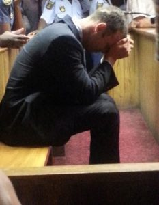 Oscar Pistorius shown during a court appearance. – image – www.mirror.co.uk