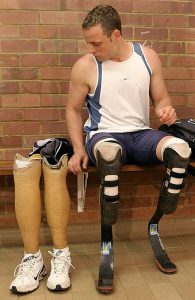 The Prison Officials have said they cannot release Oscar for correctional supervision as he has no ankles on which to attach the tracking device.  Image: www.news.com.au.