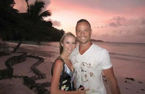 Oscar Pistorius and ex-girlfriend Samantha Taylor in happier times. – image - www.dailymail.co.uk