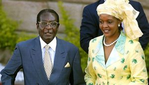 Grace Mugabe (right) with husband, President Robert Mugabe.