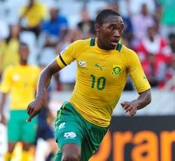 Sibusiso Vilakazi the man who provided the equaliaser for Bafana Bafana.  Image: Premier Soccer League.