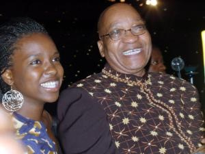 Thuthukile with her father Jacob Zuma. Photo: IOL