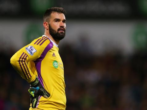West Brom goalkeeper Boaz Myhill, played a huge role in his team's win over Manchester United.                    Picture Credit : WBA