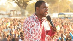 Walter Magaya. 11 of his followers were killed in Kwe Kwe after his service in a stadium.