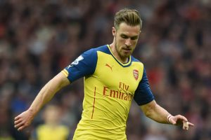 Aaron Ramsey shone in Arsenal's 1-1 draw against Manchester United at Old Trafford.            Picture Credit : Daily Star