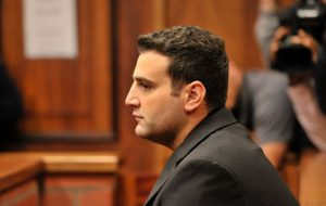 Christopher Panayiotou in court for the murder of his wife. pic: TimesLive