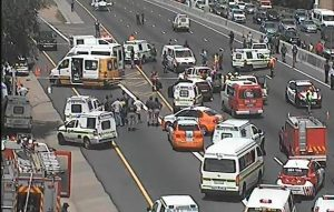 N3 Highway closed after cop killings Pic: Twitter: SANRAL TRAFFIC CAM (GP)