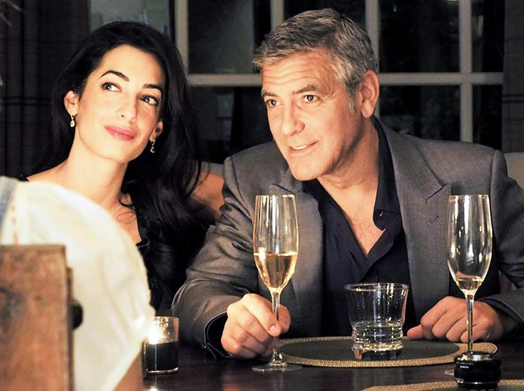George Clooney (right) has finally said 'I do' to Amal Alamuddin in Venice, Italy. Image: US Magazine.