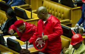 Julius Malema in Parliament.  Image: Times Live.