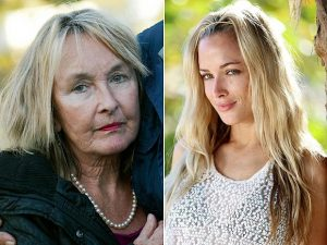 June Steenkamp, left with daughter, Reeva, who was shot and killed by her boyfriend, Oscar Pistorius . Image: 110 Nation Sports.