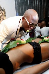 Kenny Kunene is known for eating sushi off women's bikini-clad bodies at his nightclub. – image - everyword.co.za