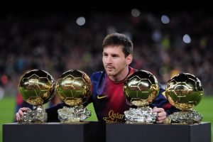 Lionel Messi's excellent form in 2015, should see him win his 5th FIFA Ballon d'Or trophy.                            Picture Credit : London News