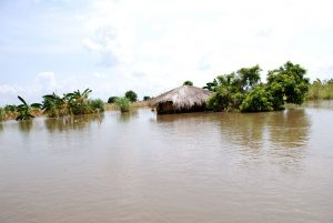 Many homes, like this one, have been literally submerged in water, it has been reported.  Image:  Iris Ministries Malawi.