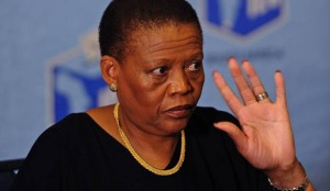 Hold on a moment! Pansy Tlakula does not seem ready to step down. Photo: Daily Maverick.