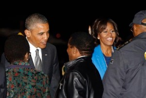President Barack Obama and his wife Michelle arrived in South Africa on Friday night. – image - www.thenewage.co.za
