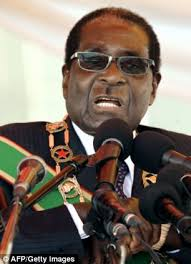 Robert Mugabe, the Zimbabwean President. Is it an official visit or does he bring a begging bowl? Image: The Daily Mail
