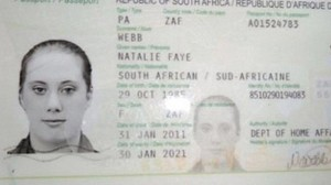 Samantha Lewthwaite is suspected of being one the attackers in the Kenyan Mall shooting incident. Her face appears on a South African passport under the name of Natalie Faye Webb. – image - www.dailymail.co.uk