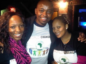 World Changers SA hosted the Winter Warmer Party for Charity at BAR9 in Midrand, Johannesburg. World Changers SA crew from left to right; Lesego Mokoena, Thato Molamu and Lee Moagi. – image – www.publicnewshub.com