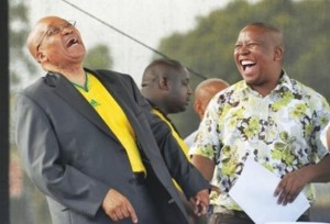 In happier times, President Jacob Zuma (left) and Julius Malema (right) sharing a joke and holding hands. Things are not the same anymore. – image - www.witness.co.za